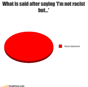 "THIS. If you have to start the sentence with ""I'm not racist, but"", YOU ARE BEING RACIST."